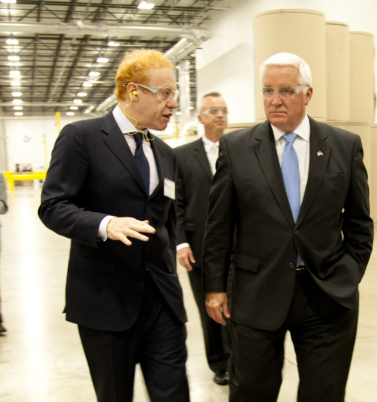 Anthony Pratt and Governor Tom Corbett Tour New Pennsylvania Box Plant