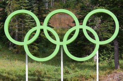 Green Olympic Rings from iStockPhoto.com