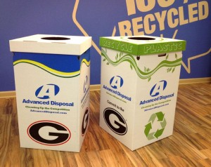 Pratt industries & Advanced Disposal Provide Recycling Bins to UGA