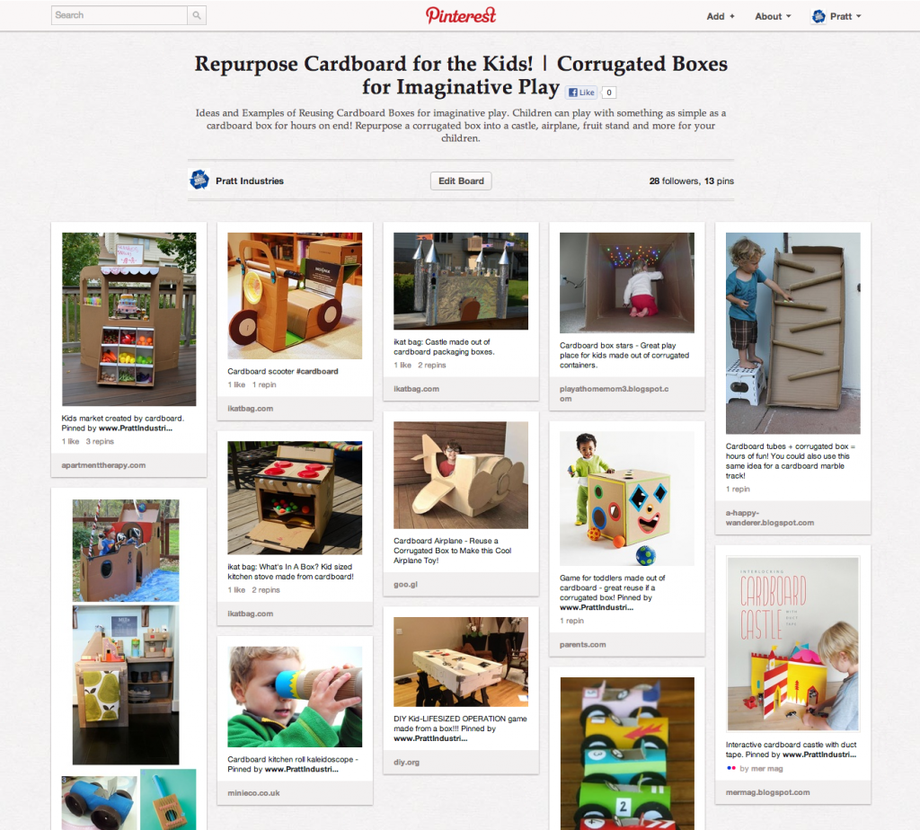Cardboard Boxes for Play | Pratt industries on Pinterest