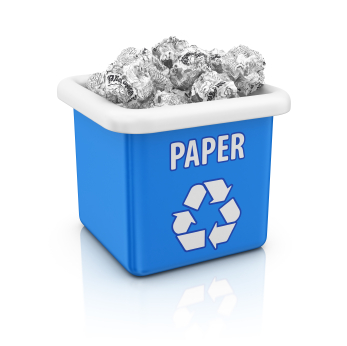 Stop throwing away paper and start recycling - Image courtesy of http://innovations.prattindustries.com/files/2012/11/iStock_000015354331XSmall.jpg