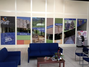Pratt Industries' Display Division Lobby