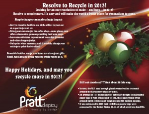 Pratt Display Holiday Recycling Email