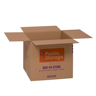 Public Storage Green Boxes | Made by Pratt Industries