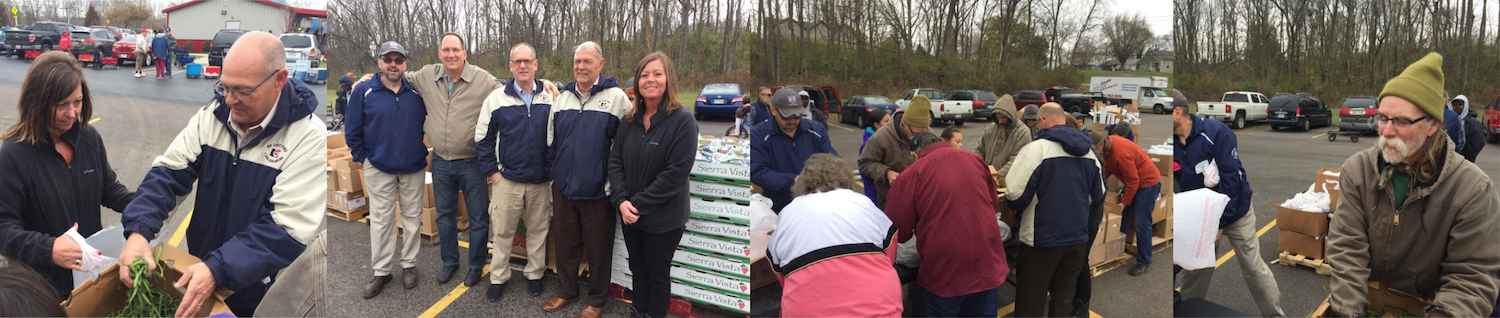 Pratt Industries Lewisburg Food Bank Drive with Henny Penny