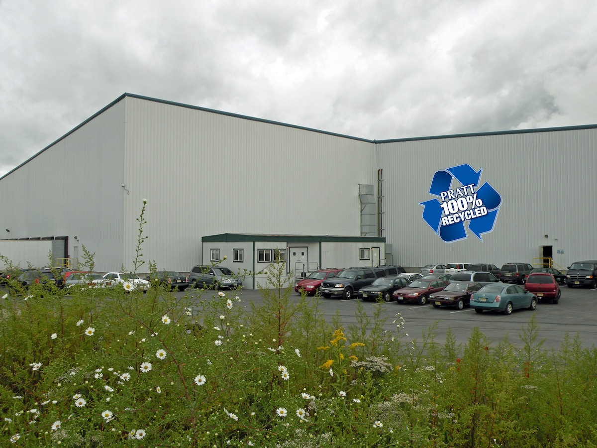 Image of Exterior of Recycled Paper Mill in New York City