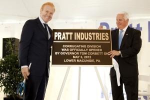 Anthony Pratt & Pennsylvania Governor Tom Corbett at Ribbon Cutting