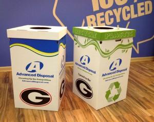 Pratt industries & Advanced Disposal Provide Recycling Bins to UGA