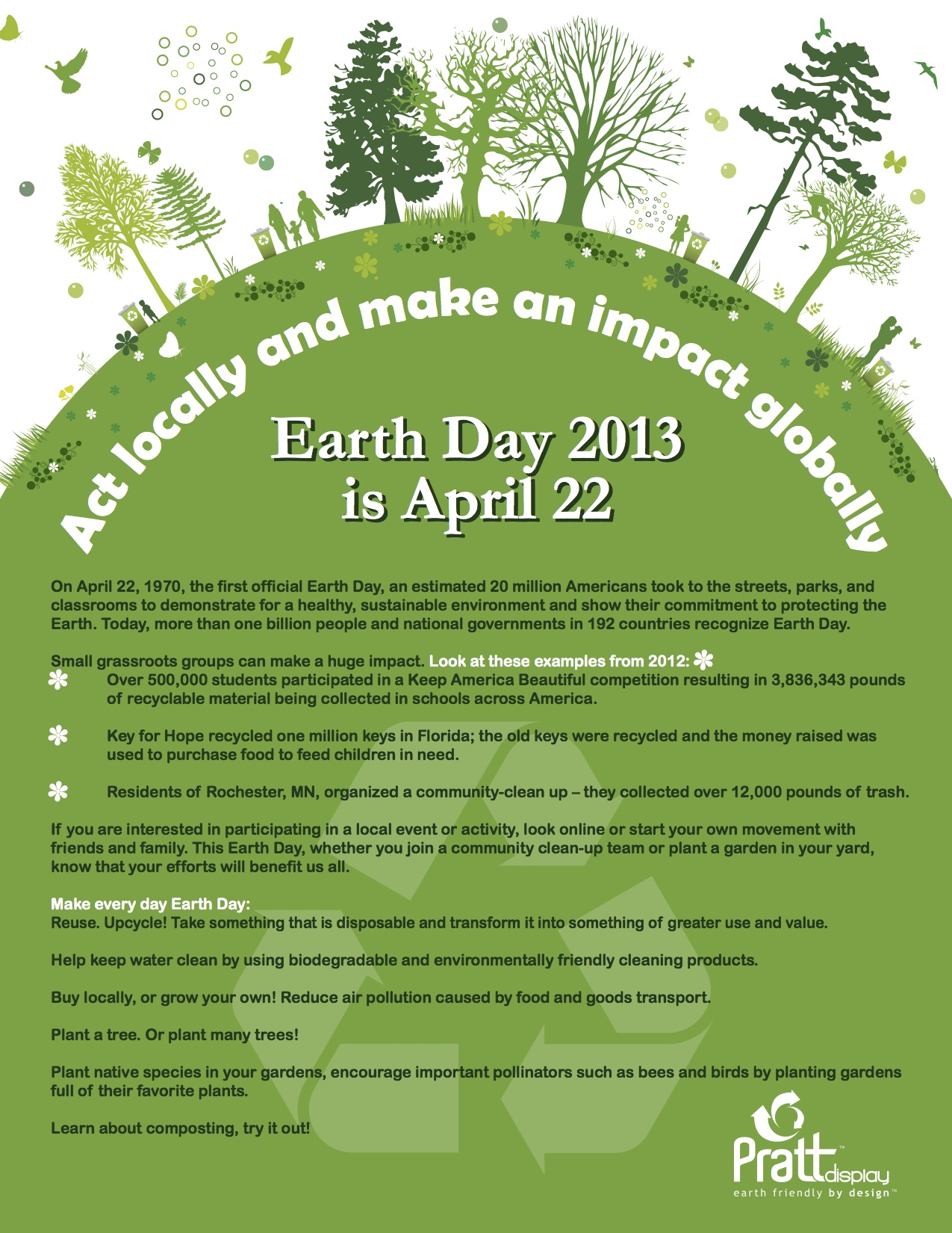 Pratt Industries Celebrates Earth Day | Flyer