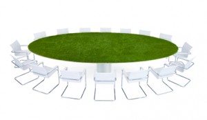Green Conference Table   Sustainable Recruitment