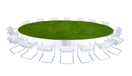 Green Conference Table | Sustainable Recruitment