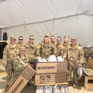 Deployed Soldiers Receive Packages from the Hero Box Program