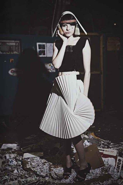 Model/Designer: Sam Cogley; Photography: Cynthia Pantaleon
