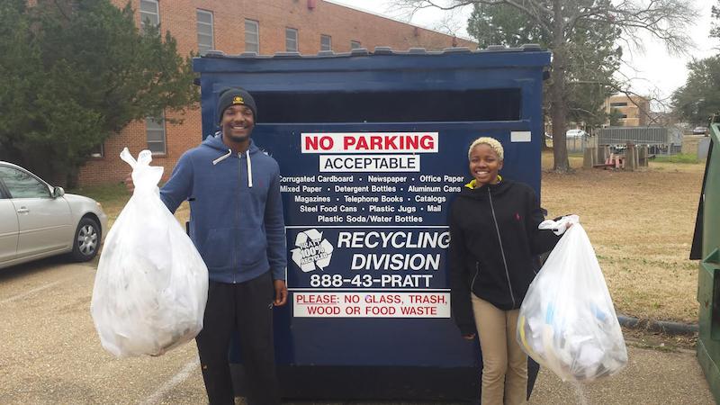 Pratt Recycling Bin at Grambling State University